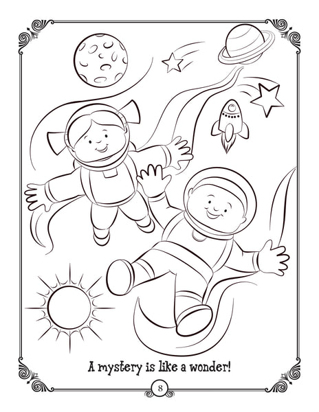 "Brother Francis Coloring and Actvitiy Book ""The Rosary"" coloring page"