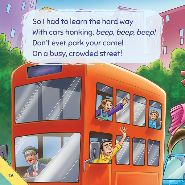 Don't Ever Park Your Camel on a Busy, Crowded Street - a book about bullying. Sample page 2.