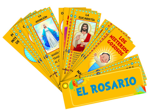 El Rosario - The Rosary Catholic Devotional Fan Booklet