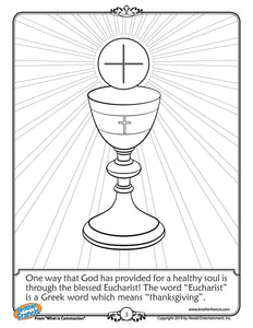 Download and Print - The Eucharist Coloring Page