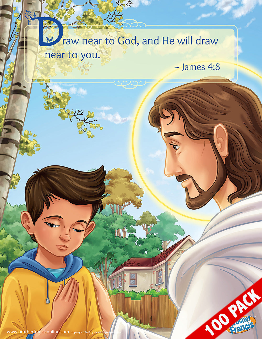 100-Pack of Brother Francis Mini Poster - Examination of Conscience (Boy)