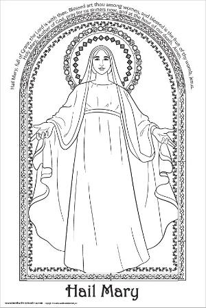 Download and Print - Hail Mary Coloring Page