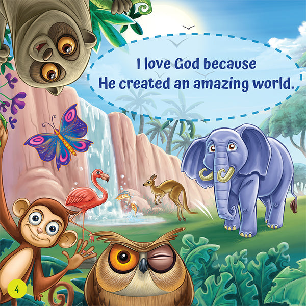 I Love God Because - praise and gratitute for Christian Children - Brother Francis Reader sample page