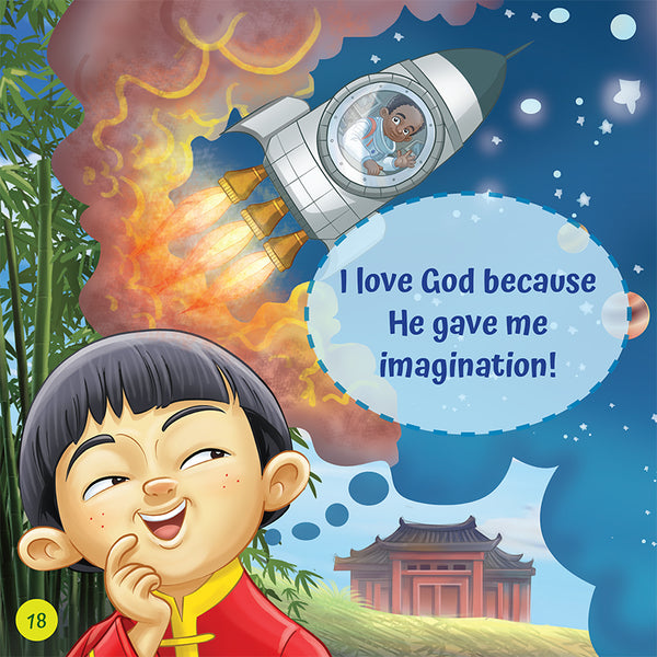 I Love God Because - praise and gratitute for Christian Children - Brother Francis Reader sample page imagination