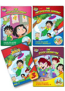 The Jesus Stories Bundle: Volume 1 DVD and 3 Coloring Books