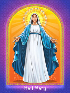 Hail Mary wall poster by Brother Francis