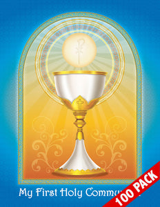 100-Pack of Brother Francis Mini Poster - My First Holy Communion