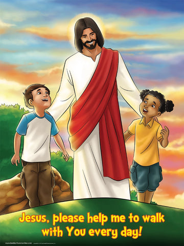 New Year Poster - Jesus please help me to walk with You every day.