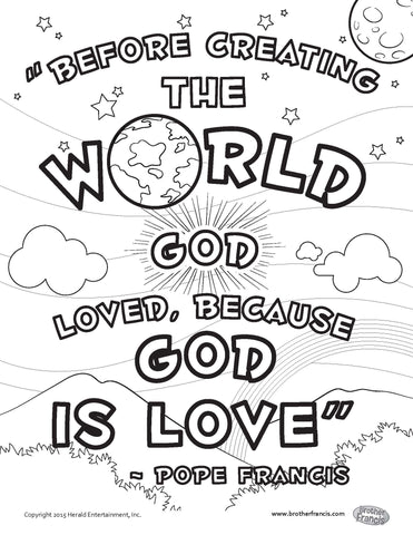 Download and Print - God is Love Coloring Page
