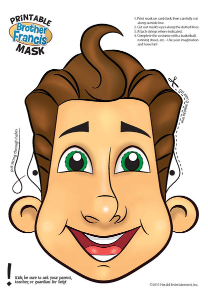 Download and Print - Brother Francis Mask Activity - B&W and Color