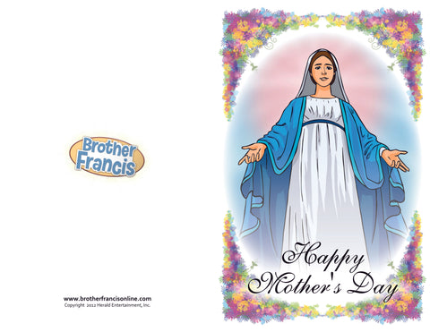 Download and Print - Mother Mary Mother's Day Card