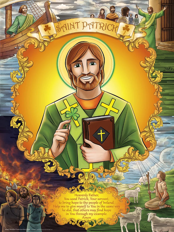Saint Patrick wall poster by Brother Francis