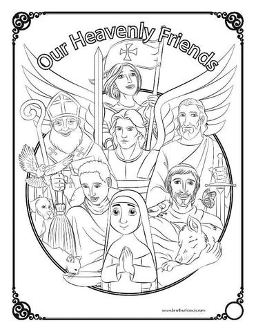 Download and Print - Our Heavenly Friends, The Saints!