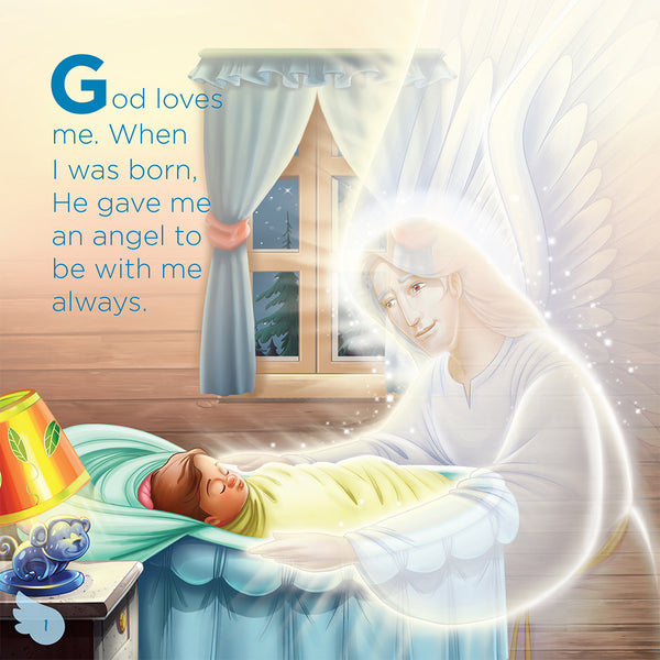 The Angel God Gave Me - picture of Angel guarding little girl.
