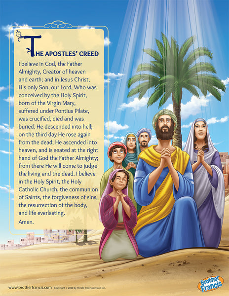 Apostles' Creed Mini Poster from Brother Francis