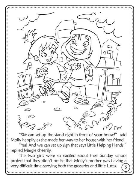 The Good Samaritan coloring book - Jesus Stories Episode 3 inside sample page