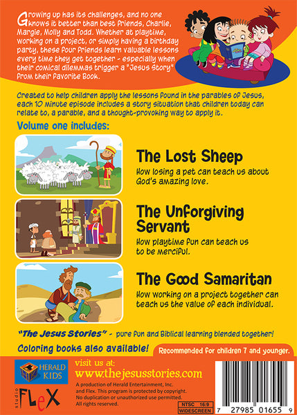 The Jesus Stories Volume 1 - The Lost Sheep, Good Samaritan, Unforgiving Servant DVD synopsis
