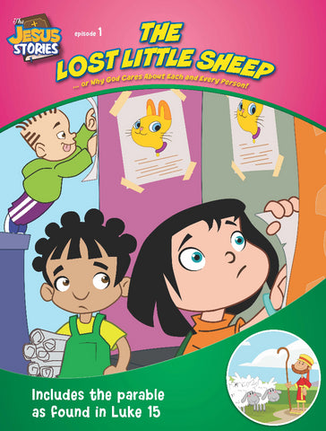 The Lost Little Sheep - coloring book of the parable of the Good Shepherd from Luke 15