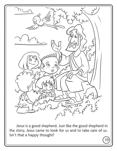The Lost Little Sheep coloring book - Jesus the Good Shepherd.