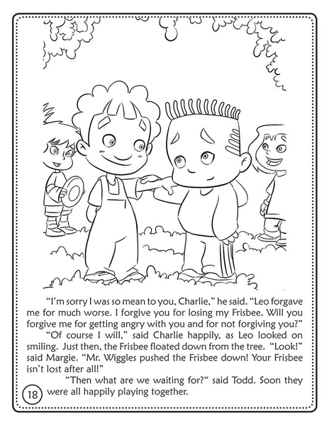 The Unforgiving Servant coloring book - The Jesus Stories 2 sample page