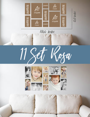 Story Wall Collage | 11 Set | Rosa Set