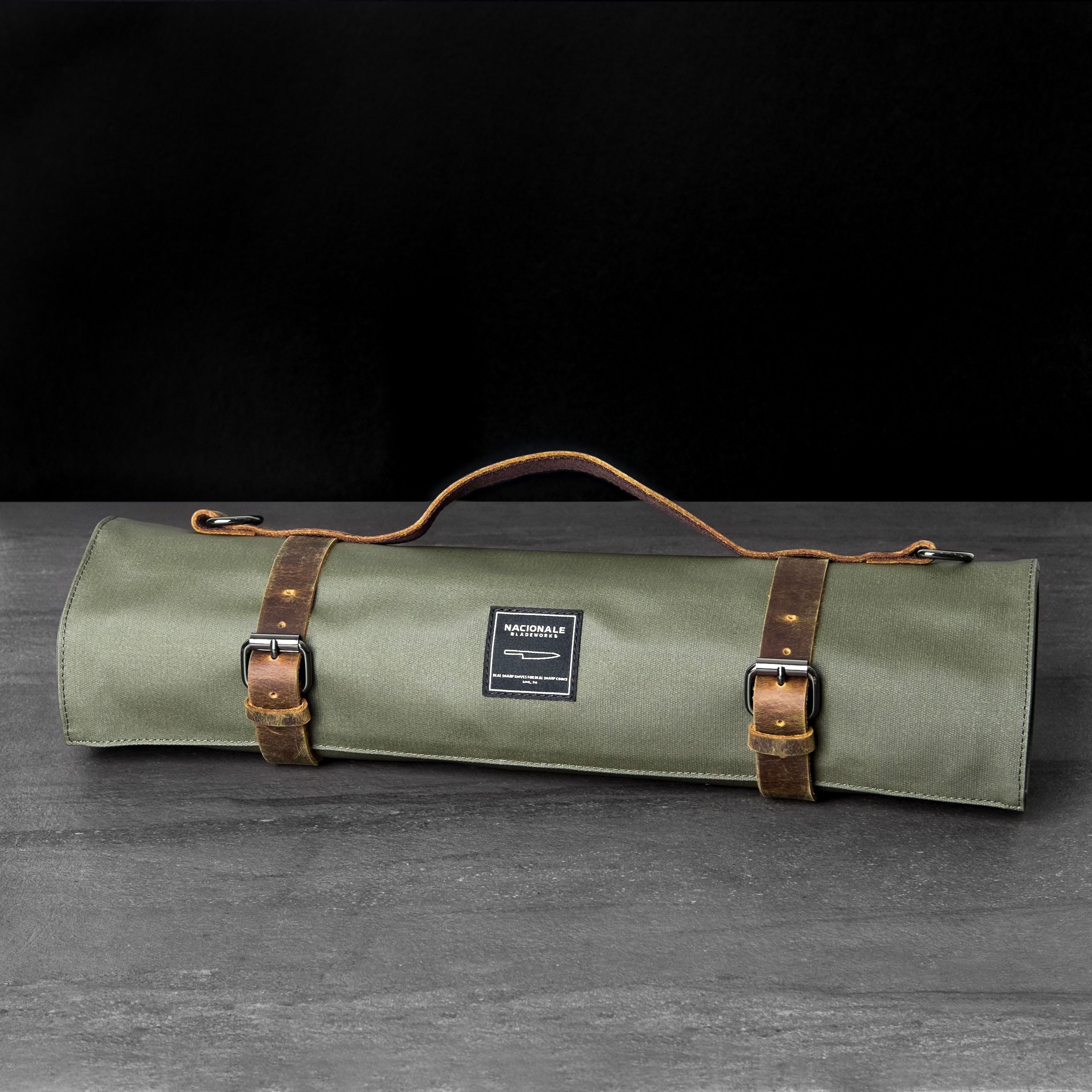 Army Green Knife Roll (Water-Resistant)