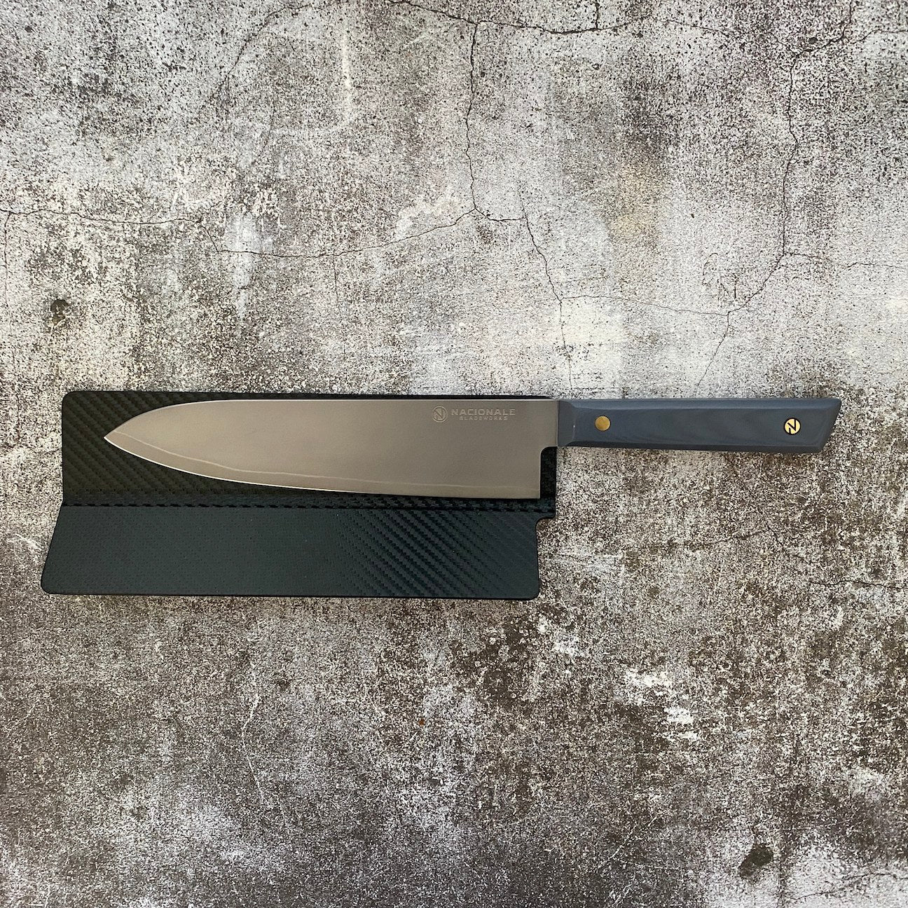215mm Magnetic Knife Guard. Sonic Gray PU