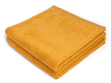 Ahangama yellow bath sheet (set of two) - Four Leaves