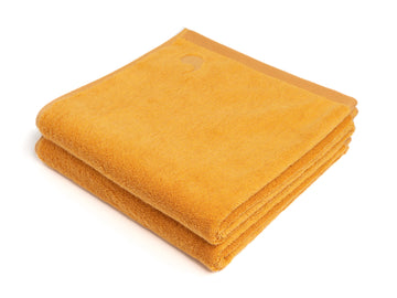 Ahangama yellow bath towel (set of two) - Four Leaves