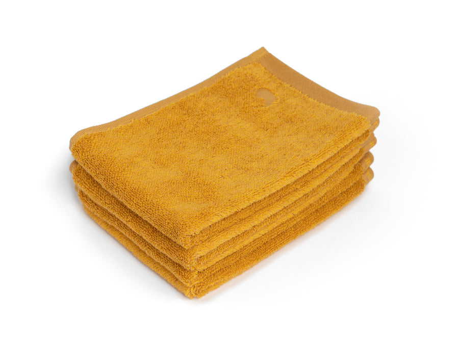 Ahangama yellow guest towel (set of four) - Four Leaves