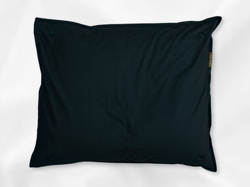 Kandalama percale pillowcase junior (dark green with dark green leaves) - Four Leaves