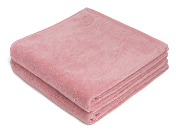 Namal Uyana pink bath sheet (set of two) - Four Leaves