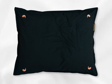 Namal Uyana percale pillowcase junior (dark green with pink leaves) - Four Leaves