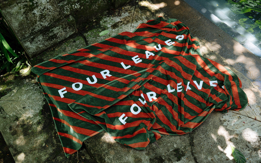 Multicolour beach towel - Four Leaves