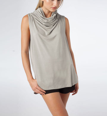 Echape Top - Light Grey