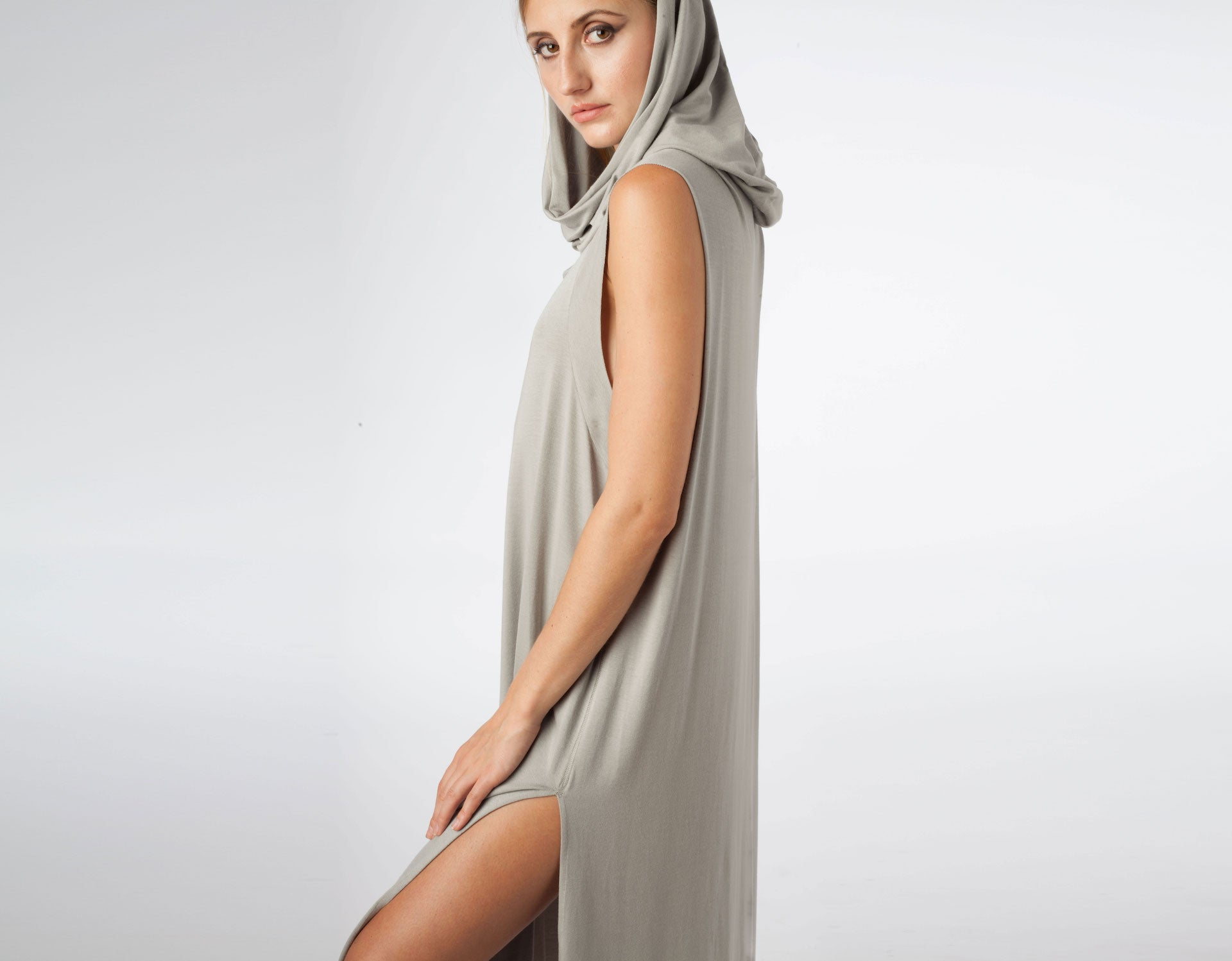 Echape Long Top/Dress - Light Grey