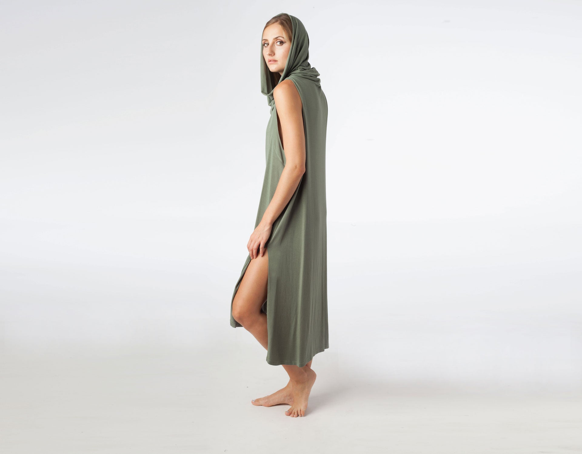 Echape Long Top/Dress - Olive Green