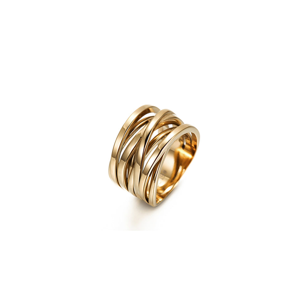 Gold Intertwined Statement Ring