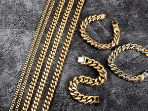 Load image into Gallery viewer, 12mm Gold Hip Hop Cuban Chain Necklace