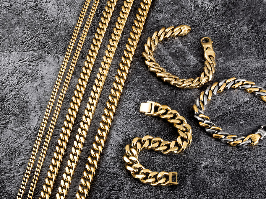12mm Gold Hip Hop Cuban Chain Necklace