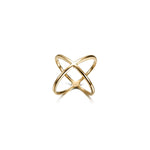 Gold Skinny Crisscross Band Ring