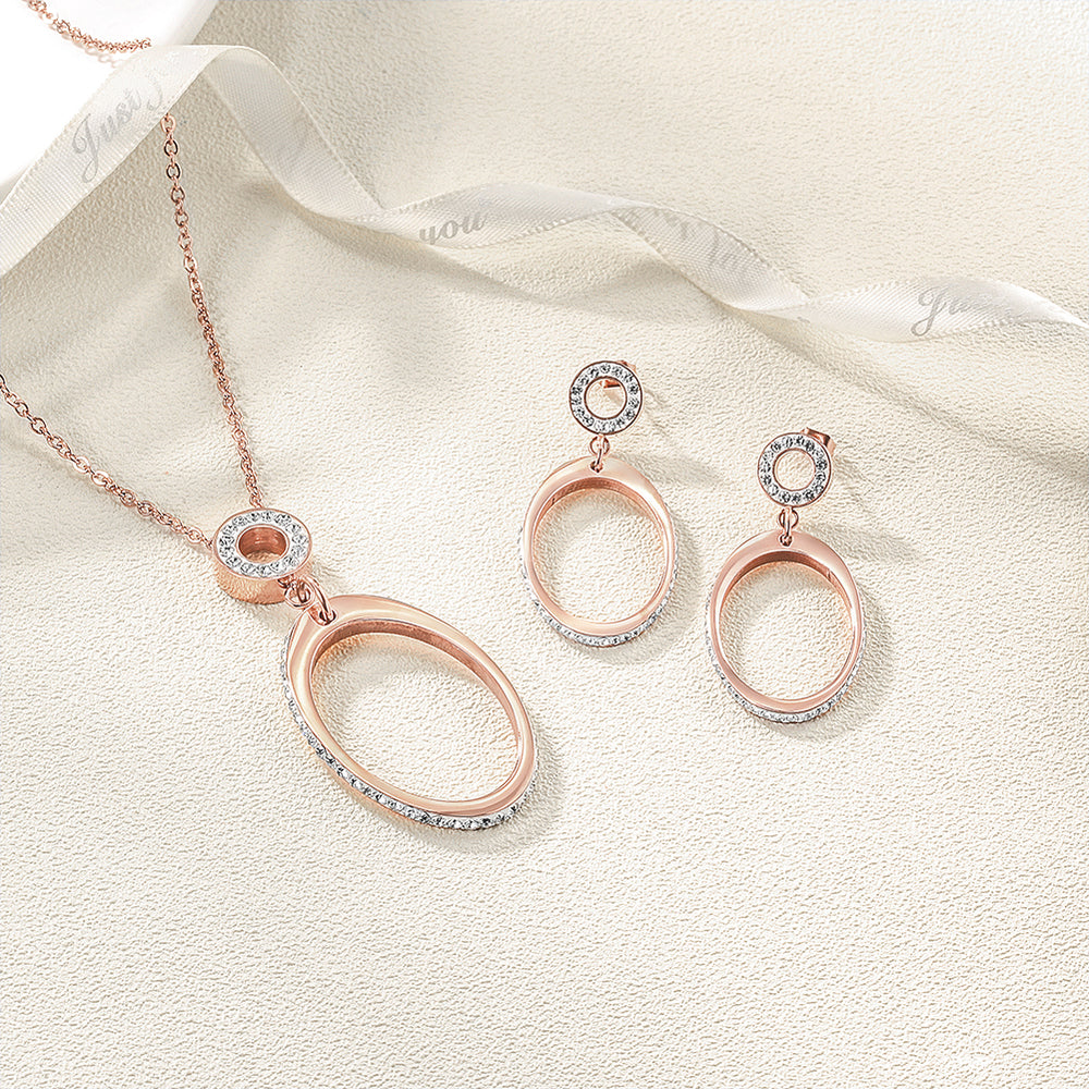 Oval Pendant Set