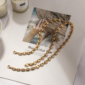 Coffee Bean Chain Necklace