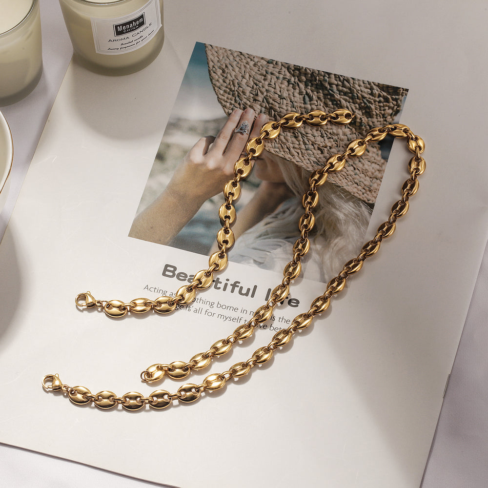 Load image into Gallery viewer, Coffee Bean Chain Bracelet