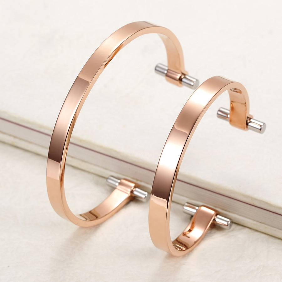 Rose Gold Love Couple Cuff