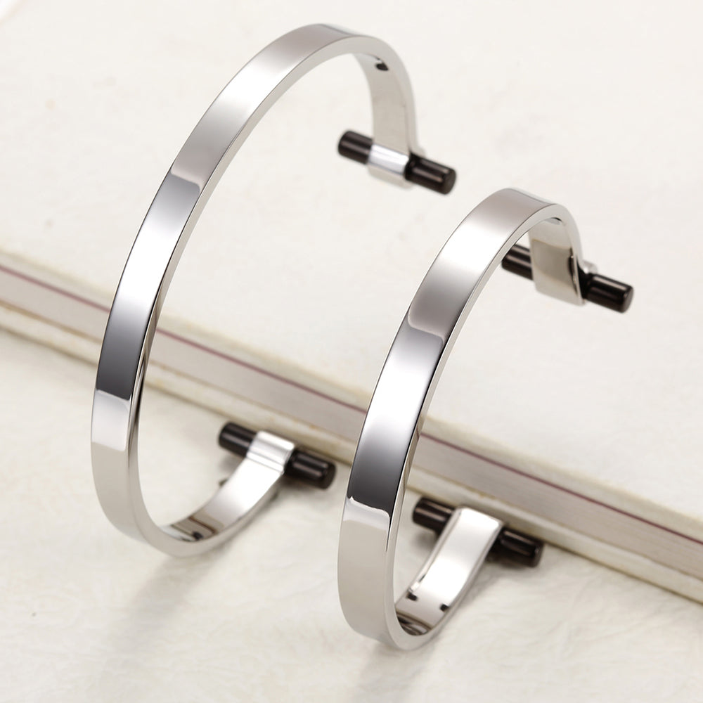 Silver Love Couple Cuff