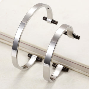 Load image into Gallery viewer, Silver Love Couple Cuff