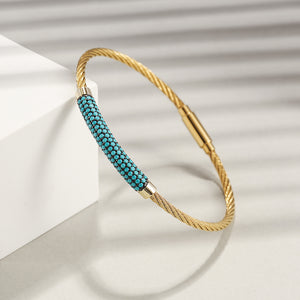 Load image into Gallery viewer, Gemstone Turquoise Bangle