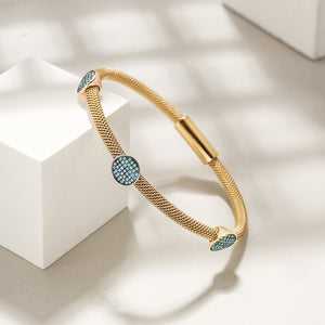 Three Stations Turquoise Cable Bangle
