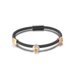 Tricolor PAVÉ SQUARE STATION BANGLE